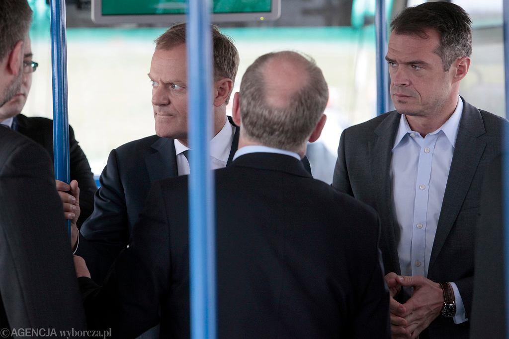Donald Tusk podczas wizyty w Wielkopolsce przed Euro 2012