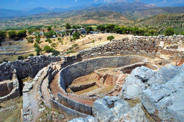 Starożytne ruiny w Mykenach