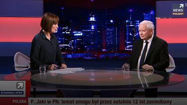 Jarosław Kaczyński w Polsat News