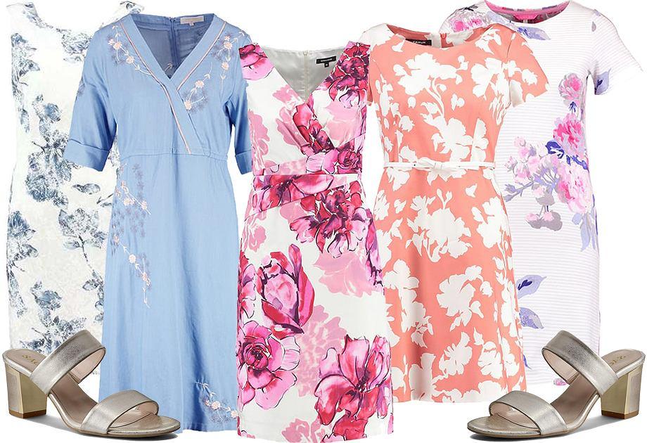 Bawełniane sukienki w kwiaty