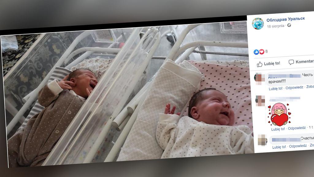 Kobieta urodziła bliźniaki w odstępie 11 tygodni