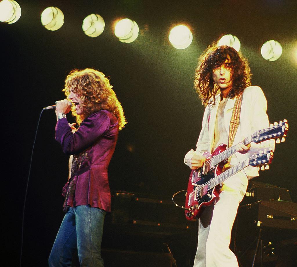 Jimmy Page i Robert Plant na scenie