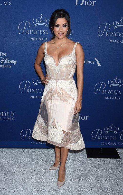 V2014 Princess Grace Awards Gala at the Beverly Wilshire Hotel.  Pictured: Eva Longoria
