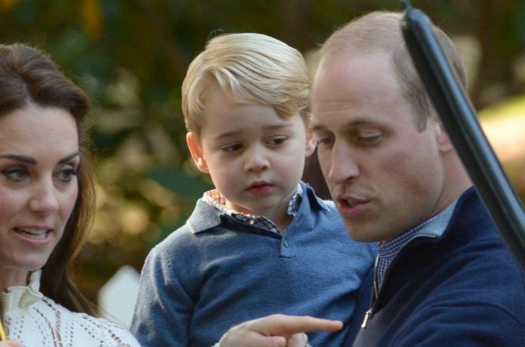 Księżna Kate, książę George, książę William