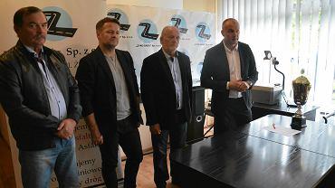 Sławomir Pietrzyk - prezes ROZPN (pierwszy z prawej)
