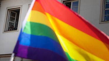 Protest w obronie aktywistów LGBT w Krakowie
