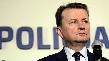 Minister spraw wewnętrznych w rządzie PiS Mariusz Błaszczak