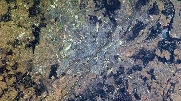 Warszawa widziana z pokładu Międzynarodowej Stacji Kosmicznej
