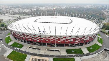 Rządzący przekształcą Stadion Narodowy na polowy szpital - w ramach walki z pandemią koronawirusa. Warszawa, 19 października 2020