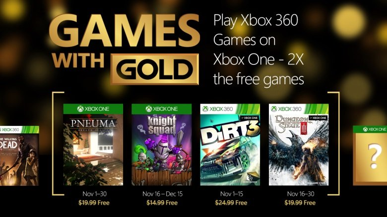 Games with Gold - oferta gier na listopad 2015