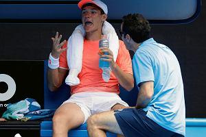 """Australian Open. Kamil Majchrzak postraszył Nishikoriego. """"Jego skurcze miały podłoże emocjonalne"""""""