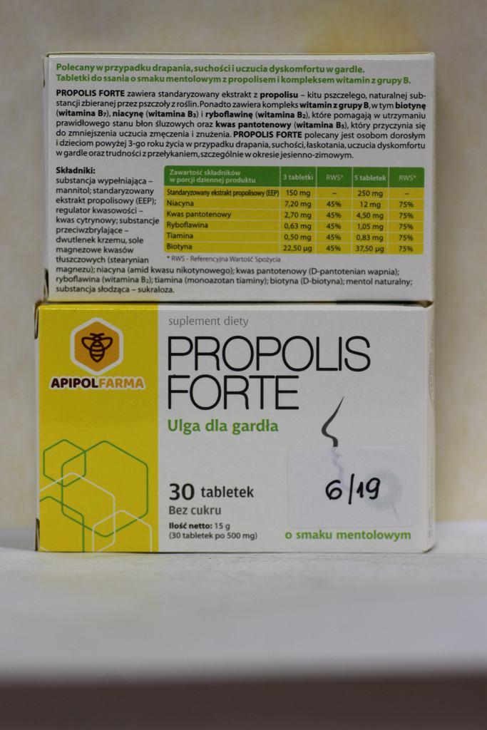 Wycofany z obrotu suplement diety Propolis Forte
