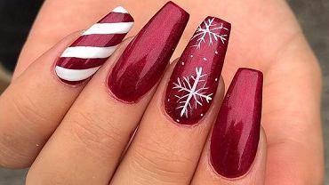 Wzory paznokci na święta