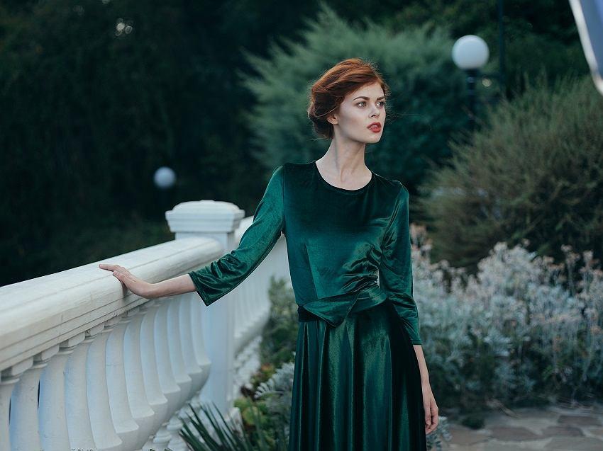 Sukienka zieleń butelkowa
