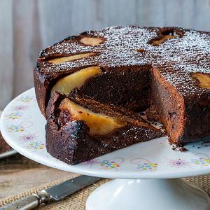 Ciasto czekoladowe z gruszkami - przepis