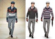 Styl: jak Burberry, ale taniej, styl, moda męska, Od lewej: stylizacja Burberry, dwie stylizacje Logo