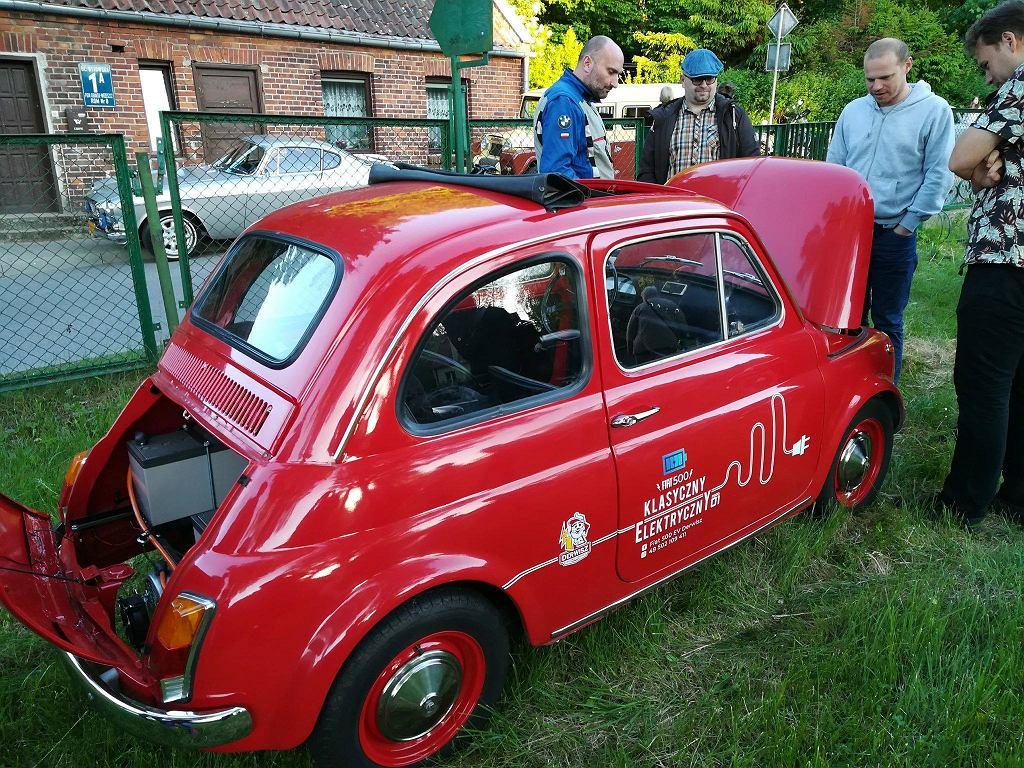 Prezentacja elektrycznego Fiata 500 w Kuźni Wodnej w Oliwie