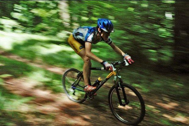 Rowerzysta w Lesie Wolskim/ Fot. CC BY 2.0/ jakub/ Flickr.com