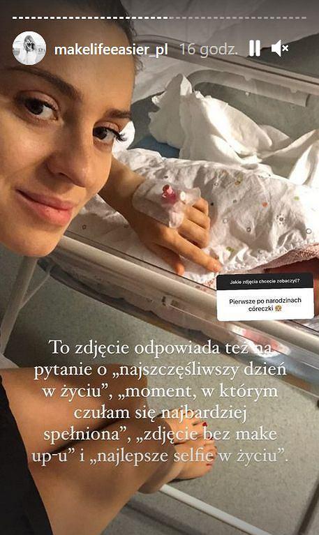 Kasia Tusk na pierwszym zdjęciu z córką