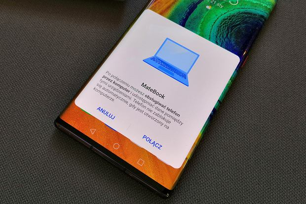 Łączenie Mate'a 30 Pro z Huawei MateBookiem D14