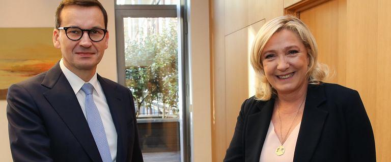 Bruksela. Mateusz Morawiecki spotkał się z Marine Le Pen
