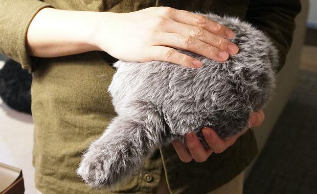 Poduszka reaguje na dotyk, odwdzięczając się machaniem ogona lub 'mruczeniem'