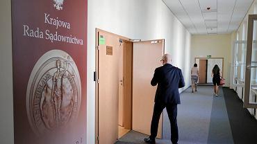 Krajowa Rada Sądownictwa podczas przesłuchań kandydatów na sędziów Izby Dyscyplinarnej SN. Warszawa, 23 sierpnia 2018