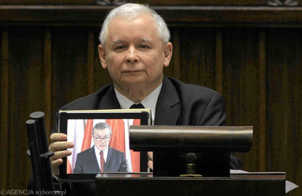 Jarosław Kaczyński i Piotr Gliński
