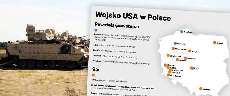 Wojsko USA intensywnie inwestuje w bazy w Polsce