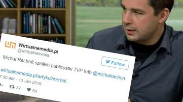 Michał Rachoń zostanie szefem publicystyki w TVP Info