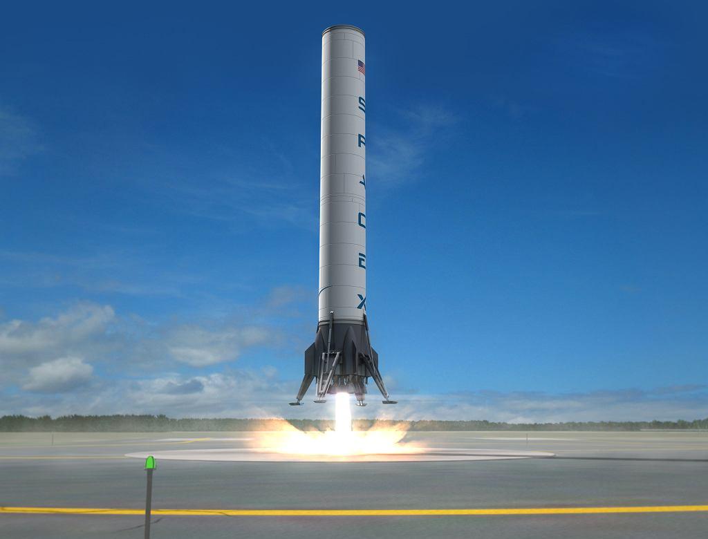 Moduł rakiety Falcon 9 wraca na Ziemię