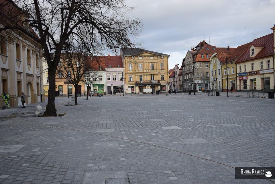 Zrewitalizowany rynek w Rawiczu