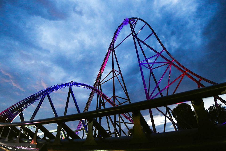 Energylandia w Zatorze. Mega coaster Hyperion