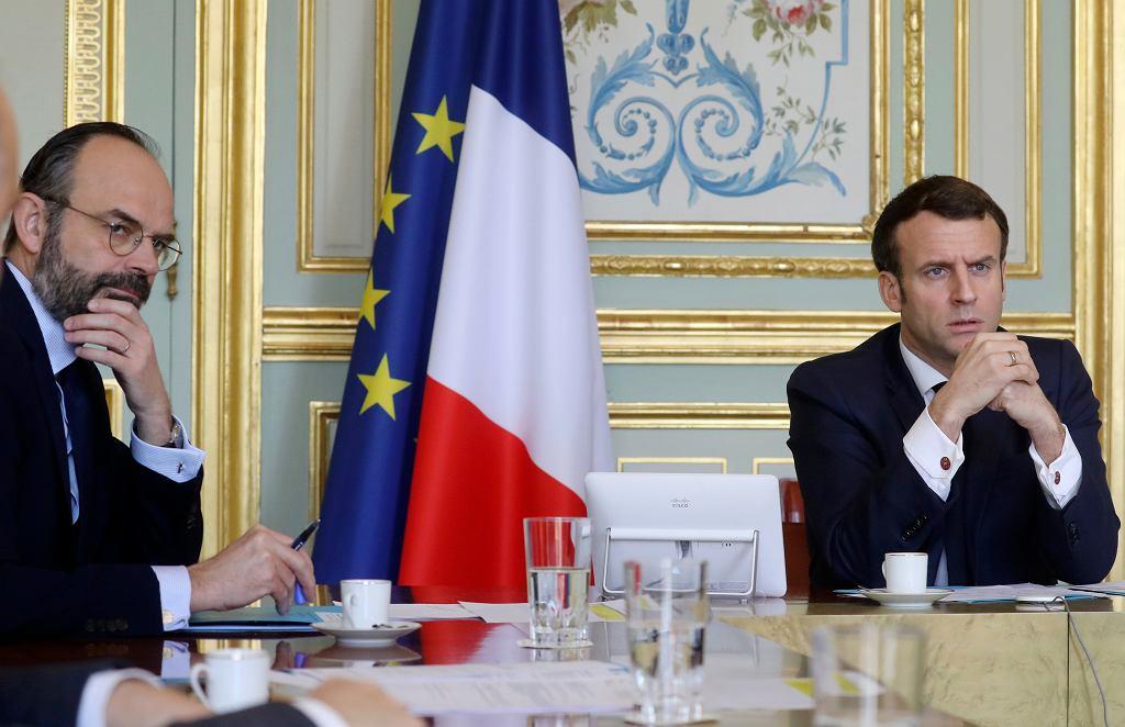 Eduord Philippe i Emmanuel Macron