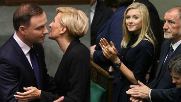 W czwartek o 10 rozpoczęła się uroczystość zaprzysiężenia Andrzeja Dudy na prezydenta RP. Z ław poselskich nową głową państwa oklaskiwały żona i córka. Agata Kornhauser-Duda i Kinga Duda żywiołowo reagowały na przemówienie prezydenta.