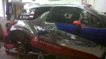 Naprawiony samochód Kubicy
