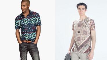 Koszulki z kolekcji H&M i Zara.