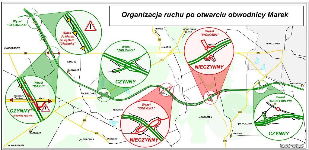 Organizacja ruchu po otwarciu obwodnicy Marek