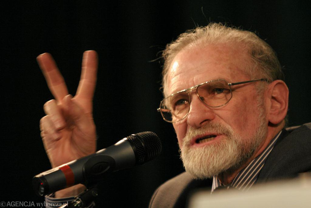 Bronisław Geremek na Uniwersytecie Adamie Mickiewicza w 2005 roku