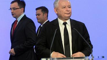 Kaczyński, Ziobro i Hoffman w 2014 r.