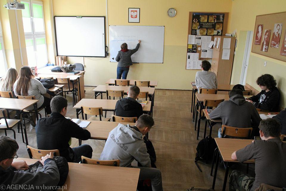 Lekcja w VI Liceum Ogólnokształcącym we Wrocławiu