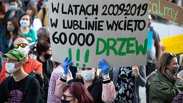 Protest mieszkańców Lublina w obronie drzew przy ul. Lipowej