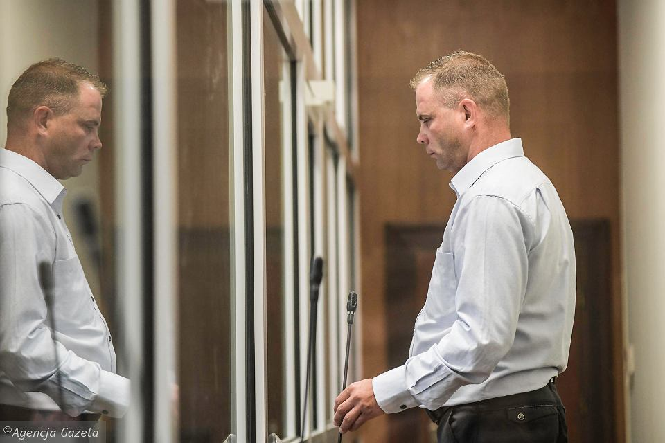 Norbert Basiura podczas rozprawy