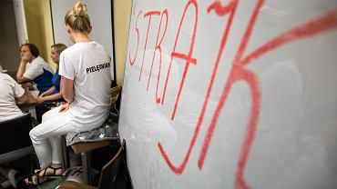 Na zdjęciu: Strajk pielęgniarek w 2018 roku