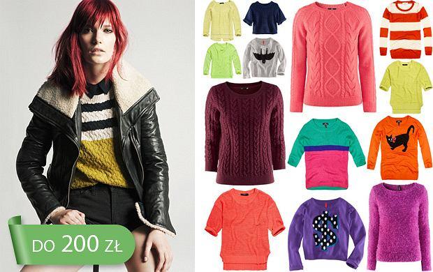 Swetry wciągane przez głowę do 200 zł