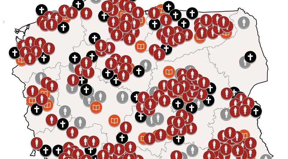 Znalezione obrazy dla zapytania: mapa pedofili w kosciele wielgus