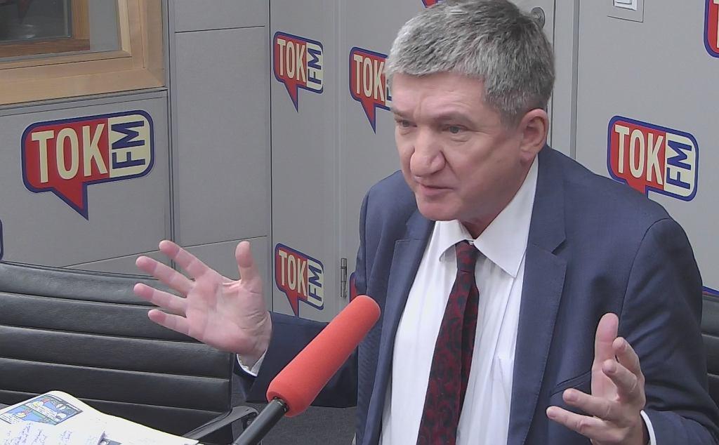 Jerzy Wenderlich w studiu TOK FM.