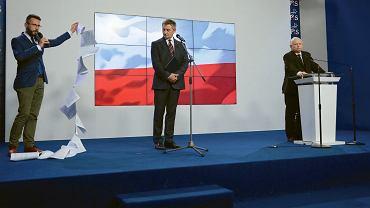 Radosław Fogiel, Marek Kuchciński, Jarosław Kaczyński