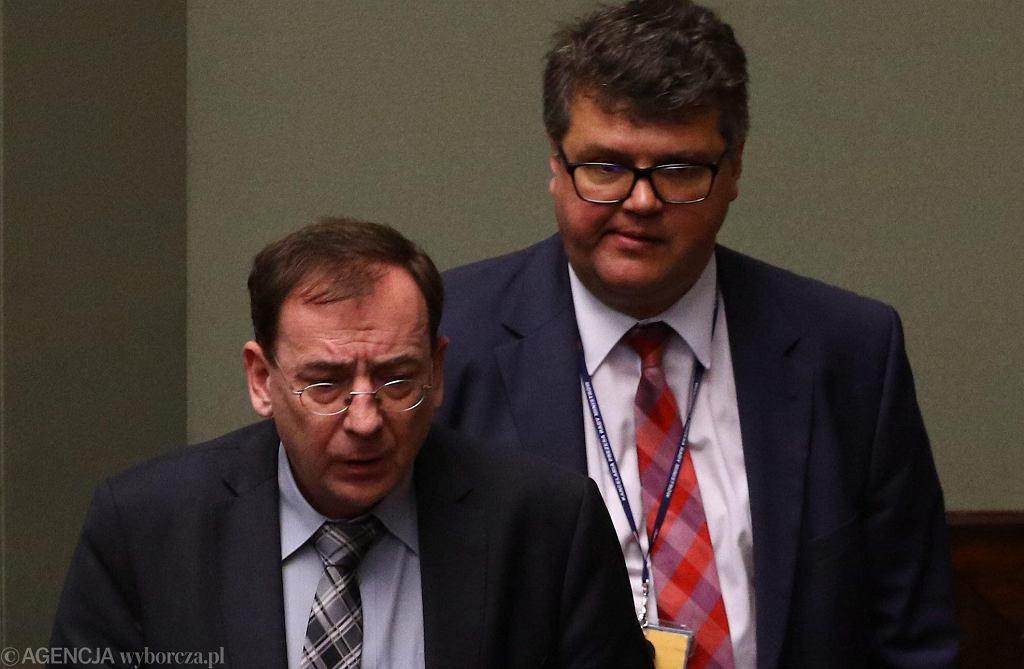 20.06.2017, Mariusz Kamiński i Maciej Wąsik podczas posiedzenia Sejmu.
