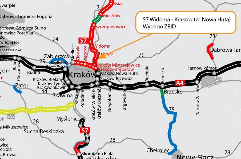 Trasa S7 Widoma - Kraków